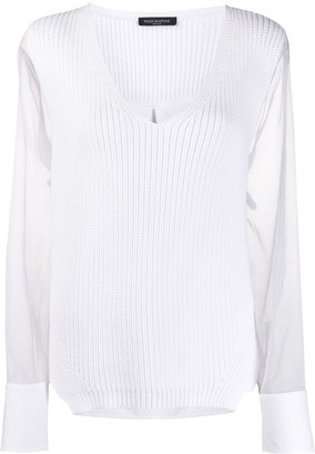 Piazza Sempione sheer sleeve jumper