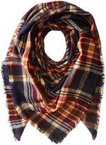 Collection XIIX Women's College Plaid Runway Wrap Scarf