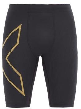 2XU Mcs Compression Running Shorts - Black Gold