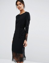 Whistles Izzy Lace And Crepe Dress