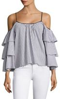 Parker Striped Marielle Cold Shoulder Blouse