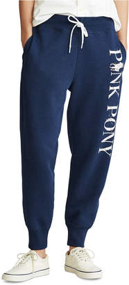 Polo Ralph Lauren Women Pink Pony Fleece Sweatpants