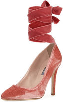 Sarah Jessica Parker Ania Velvet Pump with Removable Self-Tie Ribbon
