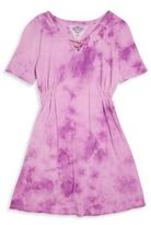 T2 Love Girl's Hand Tie-Dyed Lace Front Dress