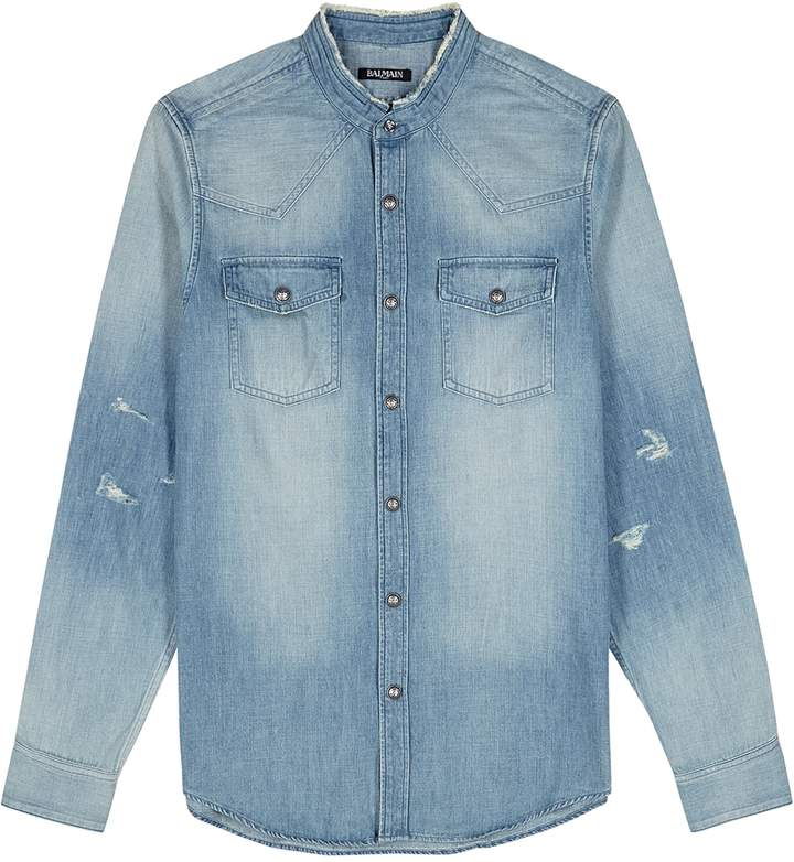 13e812d4 Denim Shirts Men Balmain - ShopStyle UK