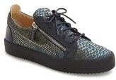 Giuseppe Zanotti Men's Side Zip Low Top Sneaker