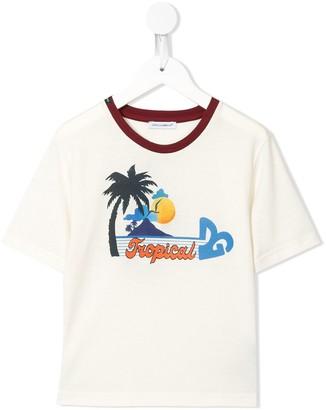 Dolce & Gabbana Kids Tropical print T-shirt