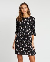 Dorothy Perkins Ditsy 3/4 Fit-and-Flare Dress