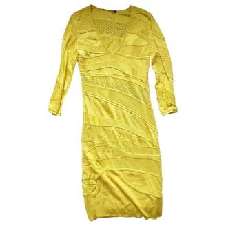 Roberto Cavalli Yellow Viscose Dresses