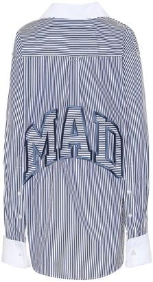Matthew Adams Dolan Embroidered striped cotton shirt