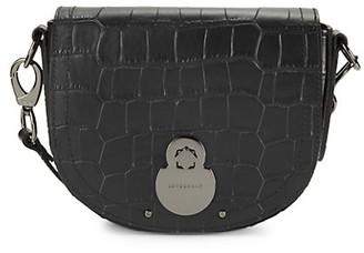 Longchamp Croc-Embossed Leather Crossbody Bag