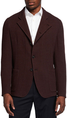 Emporio Armani Men's Soft Textured Knit Sport Jacket