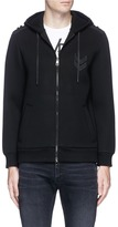 Neil Barrett Chevron embroidered zip hoodie