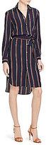 Polo Ralph Lauren Silk Long-Sleeve Shirtdress