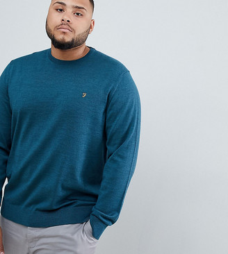 Farah Mullen merino wool sweater in green Exclusive at ASOS