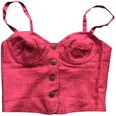 Krizia Red Linen Top for Women Vintage