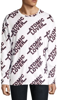 HUGO Oversized Atomic Lover Graphic Pullover