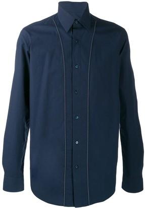 Fendi Trimmed Poplin Buttoned Shirt