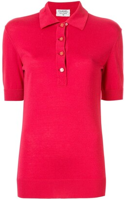 Chanel Pre-Owned logo buttons polo shirt