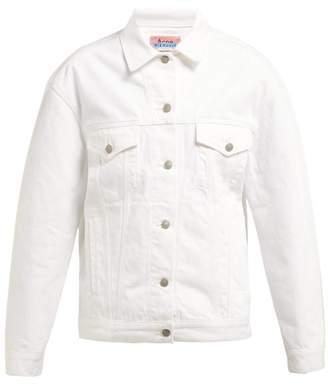 Acne Studios Snow Oversized Denim Jacket - Womens - White