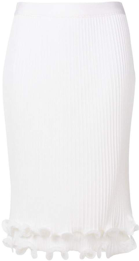 Givenchy pleated ruffle pencil skirt
