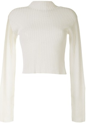 Dion Lee Ribbed Knit Cropped Jumper