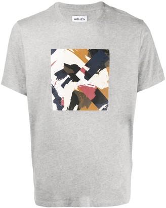 Kenzo abstract-print cotton T-shirt