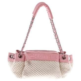 Chanel Pink Cloth Handbags