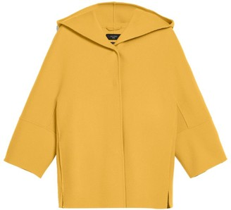 Max Mara Virgin Wool Hooded Rapace Coat