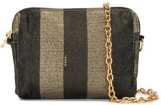 Fendi Pre Owned Pequin pattern crossbody bag