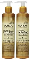 L'Oreal EverCreme Sulfate-Free Moisture System Cleansing Conditioner, 8.3 Oz (Pack of 2)
