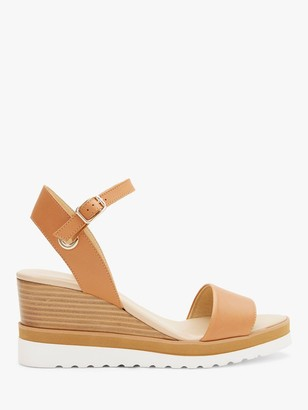 Mint Velvet Remy Wedge Heeled Leather Sandals