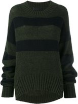 Haider Ackermann striped long fit jumper