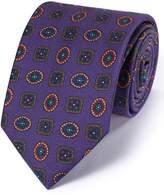Charles Tyrwhitt Purple Silk English Luxury Medallion Tie