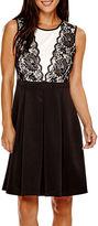 R & K Originals R&K Originals Sleeveless Lace Fit-and-Flare Dress