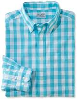L.L. Bean L.L.Bean Wrinkle-Free Vacationland Sport Shirt, Traditional Fit Gingham