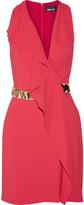 Just Cavalli Embellished crepe mini dress