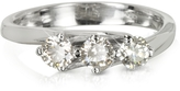 Forzieri 0.54 ctw Diamond 18K White Gold Trilogy Flower Ring