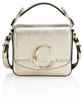 Chloé Mini C Metallic Leather Crossbody Bag