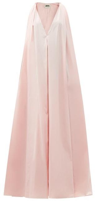 Maison Rabih Kayrouz Knotted-shoulder Poplin Gown - Light Pink
