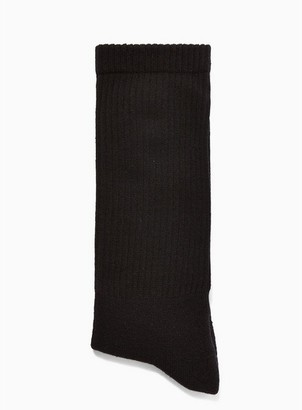 Topman Mens Black Tube Socks