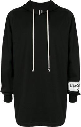 Rick Owens long line hoodie