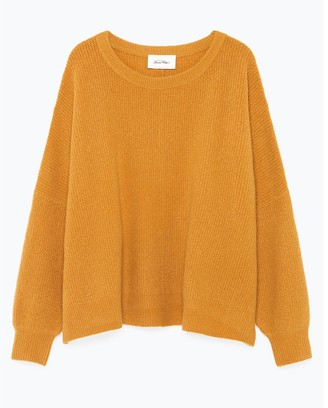 American Vintage Wopy Fine Knit Jumper with Boat-Neck