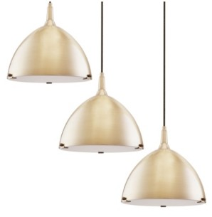 Southern Enterprises Isolde Dome Pendant Light Collection 3 Piece Set
