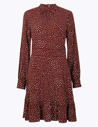 M&S CollectionMarks and Spencer Polka Dot Relaxed Mini Dress