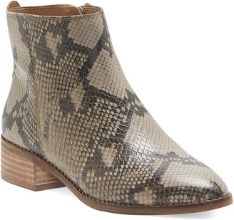Lucky Brand Women's Casual boots CHINCHILLA - Light Tan Lenree Leather Ankle Boot - Women