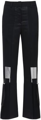 Sacai Crepe & Chiffon Straight Pants