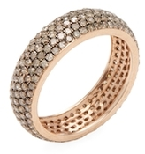 Artisan 14K Rose Gold & 1.87 Total Ct. Champagne Diamond Eternity Band Ring