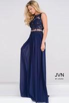 Jovani Sheer Bodice Empire Waist Chiffon Dress JVN47788
