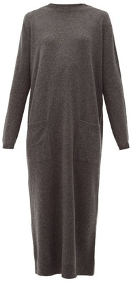 Raey Pocket Front Cashmere Midi Dress - Womens - Charcoal